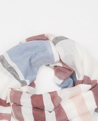Gewebtes Halstuch aus Lurex beige