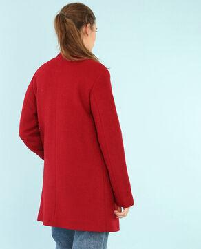 Langer Blazer aus Wollstoff Rot