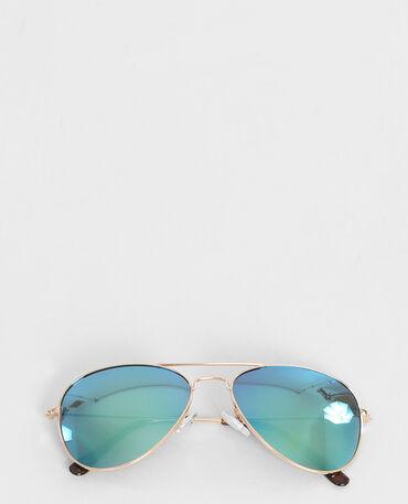 Gafas de sol aviador dorado