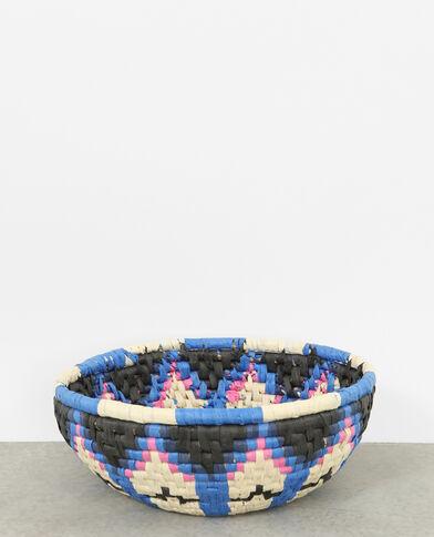 Cesta de cuerda multicolor negro