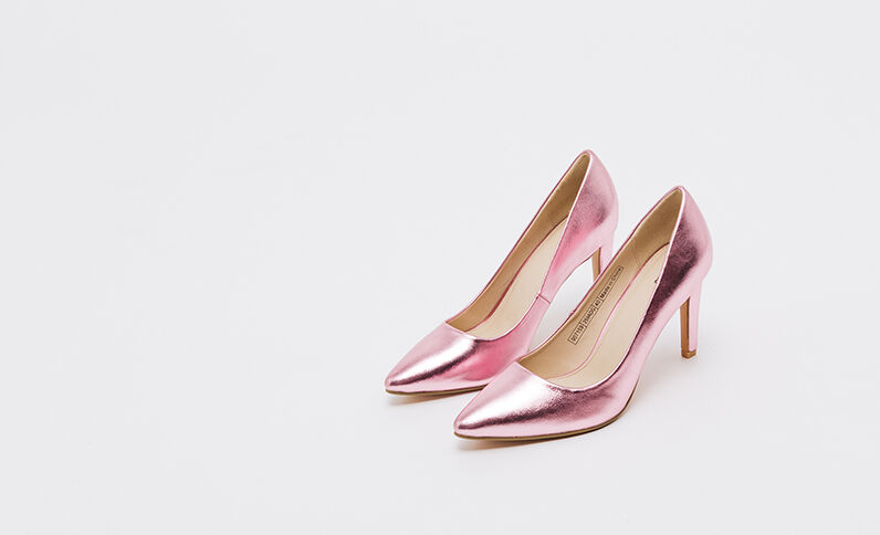 Zapatos de tacón shiny rosa