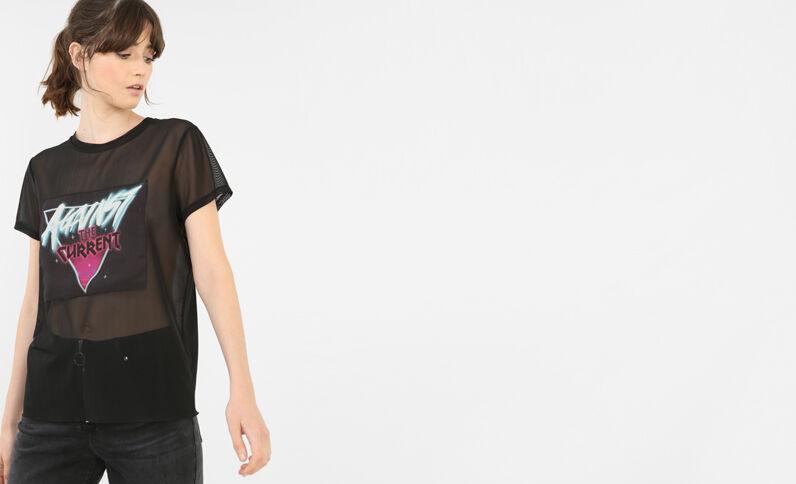 Grafisch T-shirt zwart