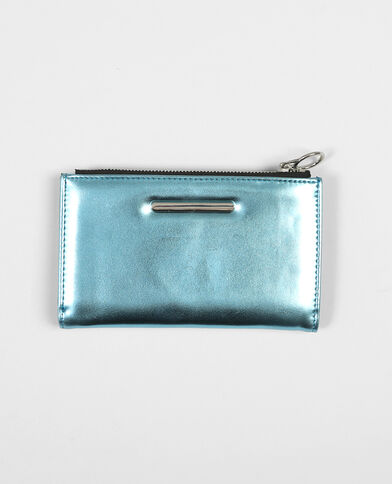 Brieftasche Metallic Aquamarin