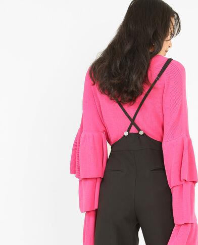 Pullover mit weiten Ärmeln Rosa