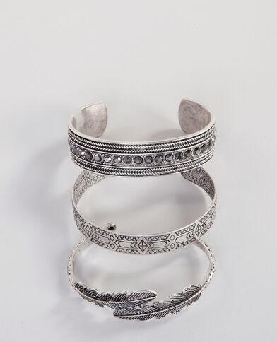 Armreife im Ethno-Stil Silberig
