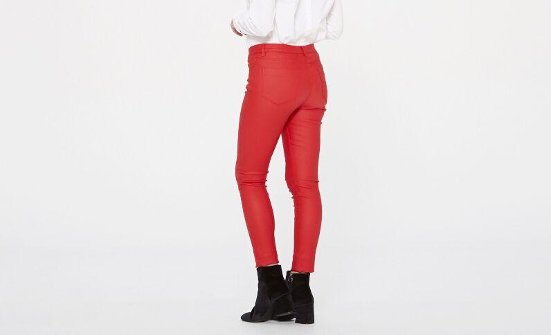 Skinny 7/8 spalmato Rosso