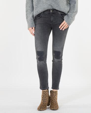 Skinny-Jeans im Destroyed-Look Schwarz
