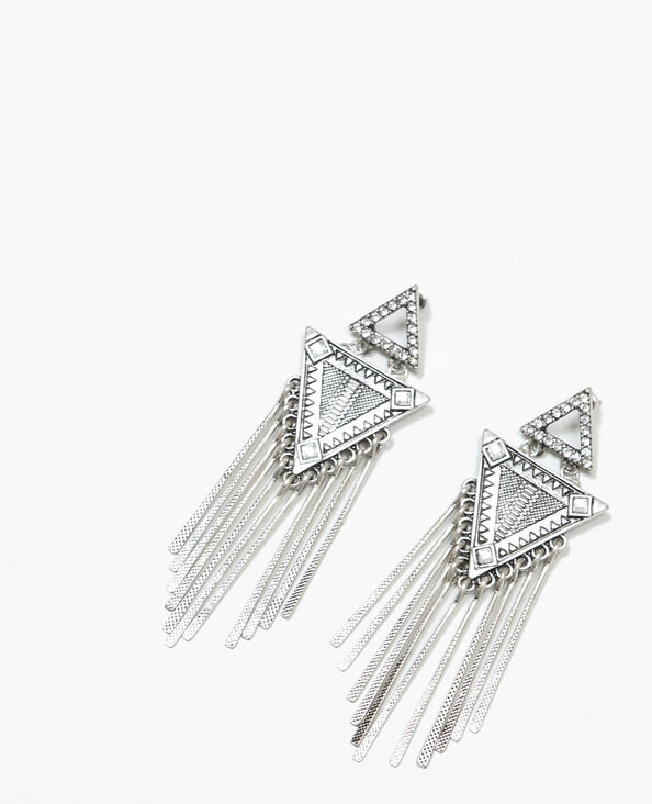 Ohrringe mit Anhängern Silberig