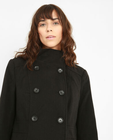 Manteau double boutonnage noir