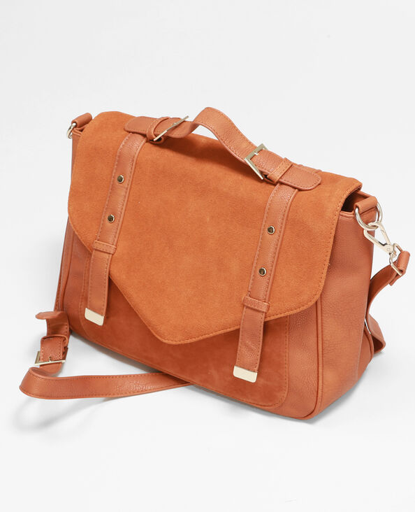Sac cartable caramel