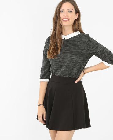 T-Shirt mit Polokragen Grau