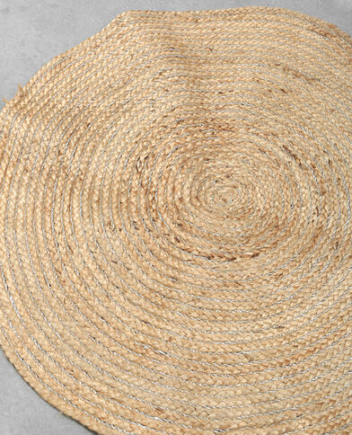 Rond tapijt beige