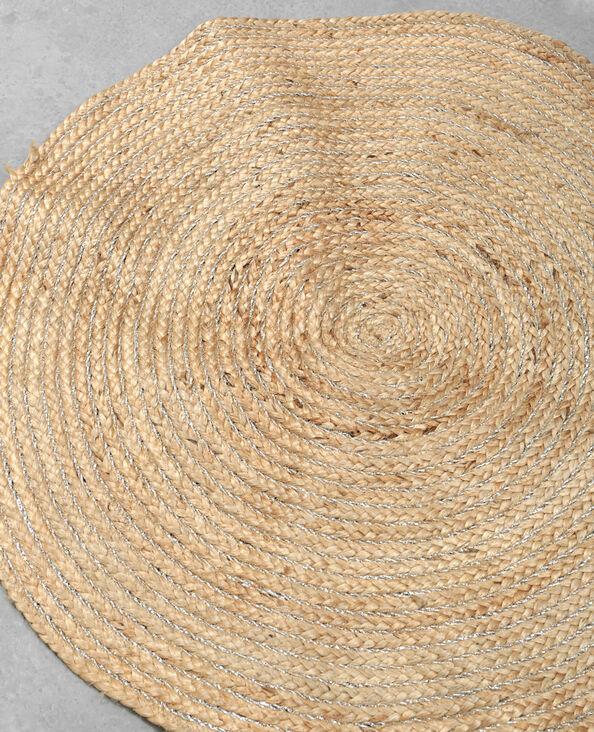 Runder Teppich Beige