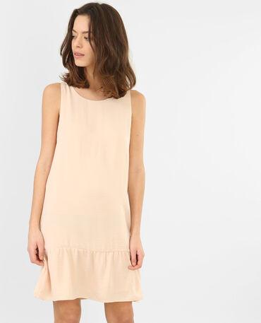 Peplum-Kleid aus Satin Zartrosa