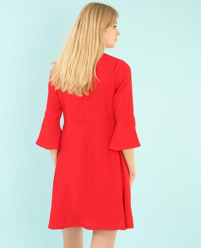 Locker fallendes Peplum-Kleid Rot
