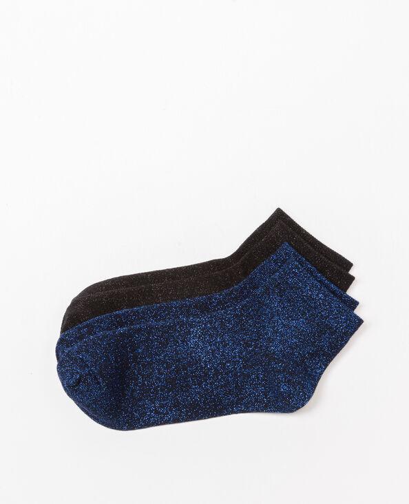 Lot de chaussettes lurex noir