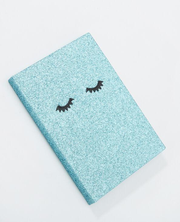 Libreta glitter azul