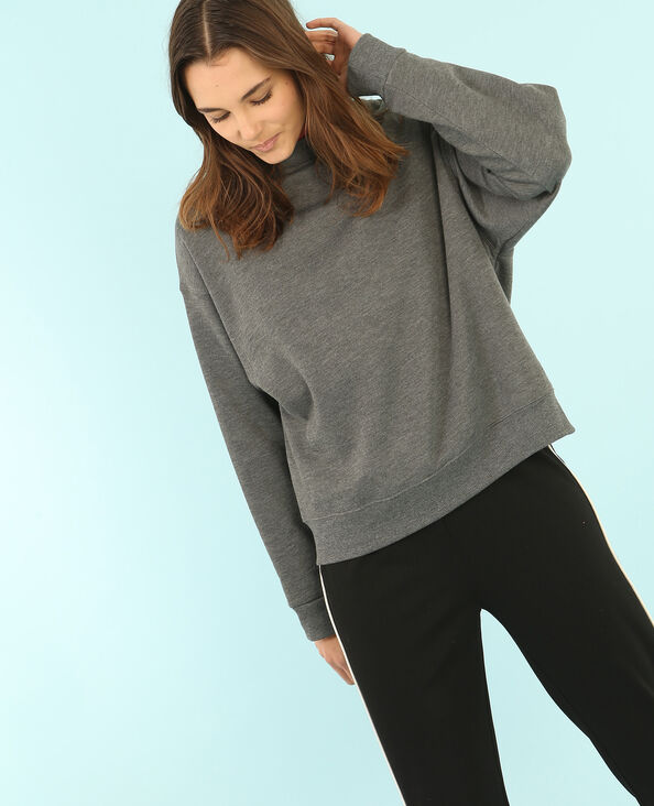 Oversized-Sweatshirt Grau