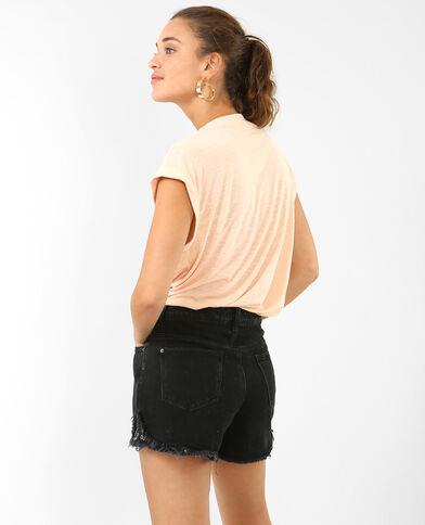 T-Shirt mit Schmuck-Details Rosa