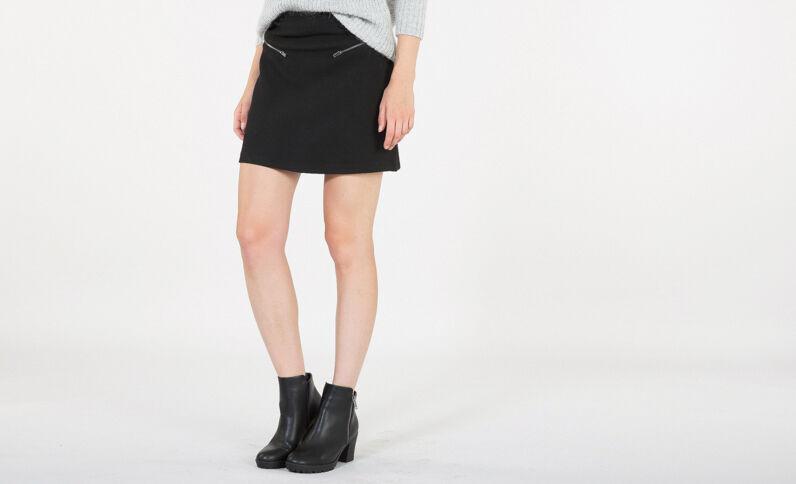 Mini jupe texturée noir