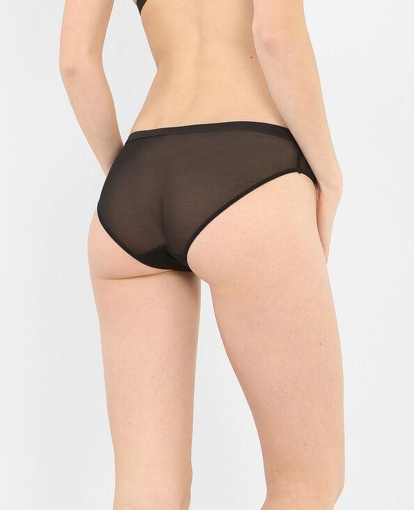 Culotte motif velours noir
