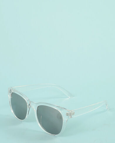 Zonnebril met transparant montuur wit