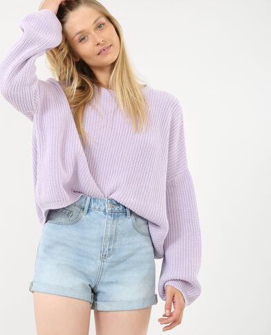 Oversized trui violet