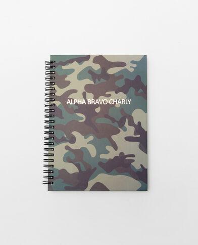 Notebook à spirales army vert