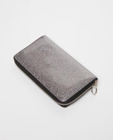 Portefeuille met glitters grijs