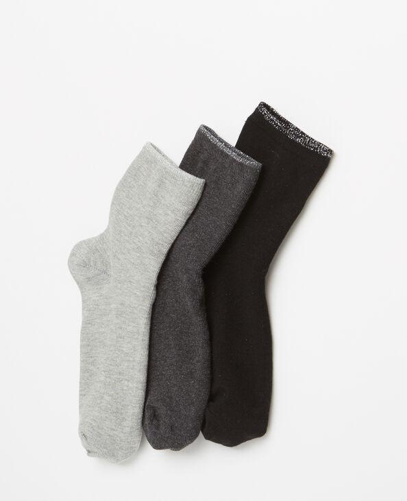 Socken im 3er-Pack Grau