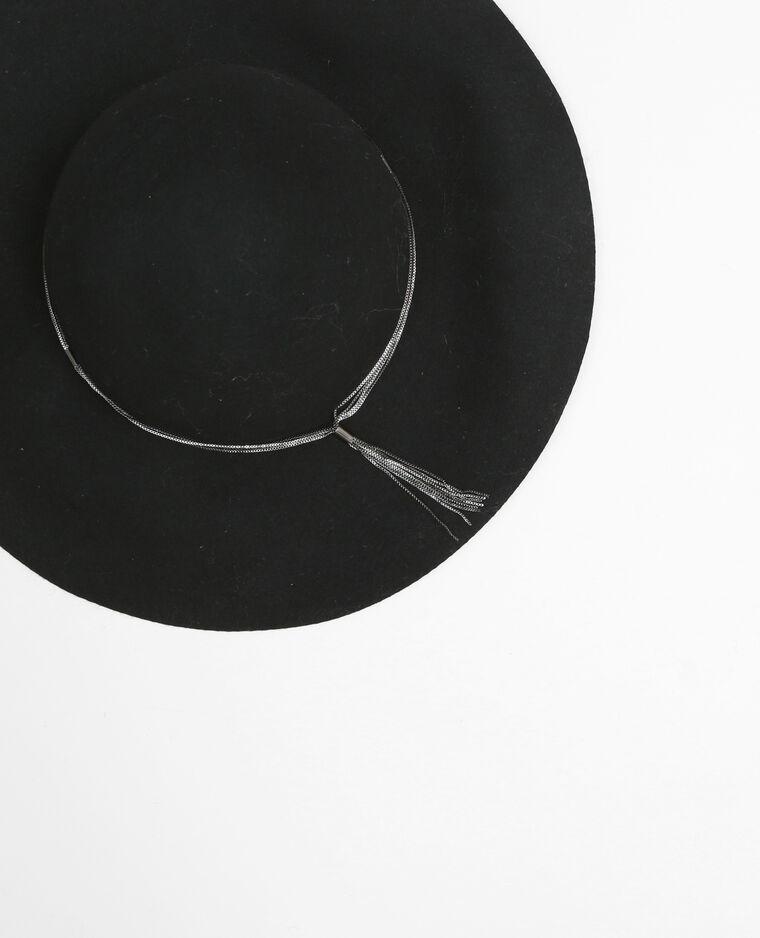 Capeline avec chaîne noir