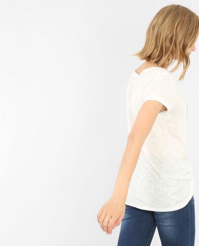T-shirt fantasia bianco sporco