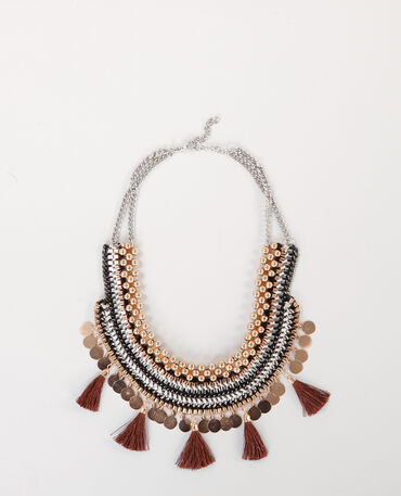 Plastron-Halskette Rosa