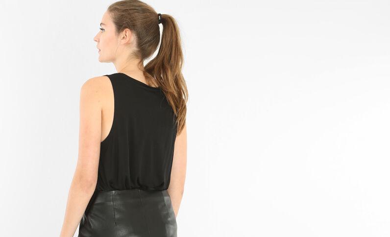 Camiseta roquera negro