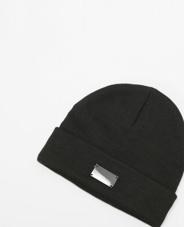 Bonnet plaque métal noir