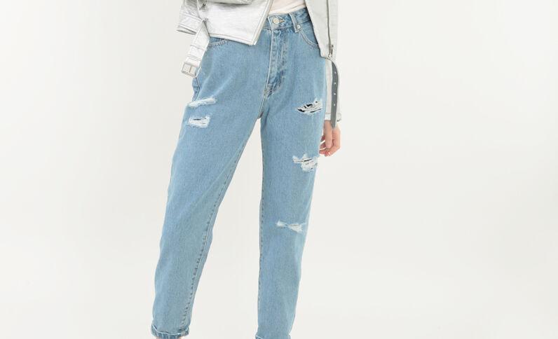 Mom jeans denimblauw