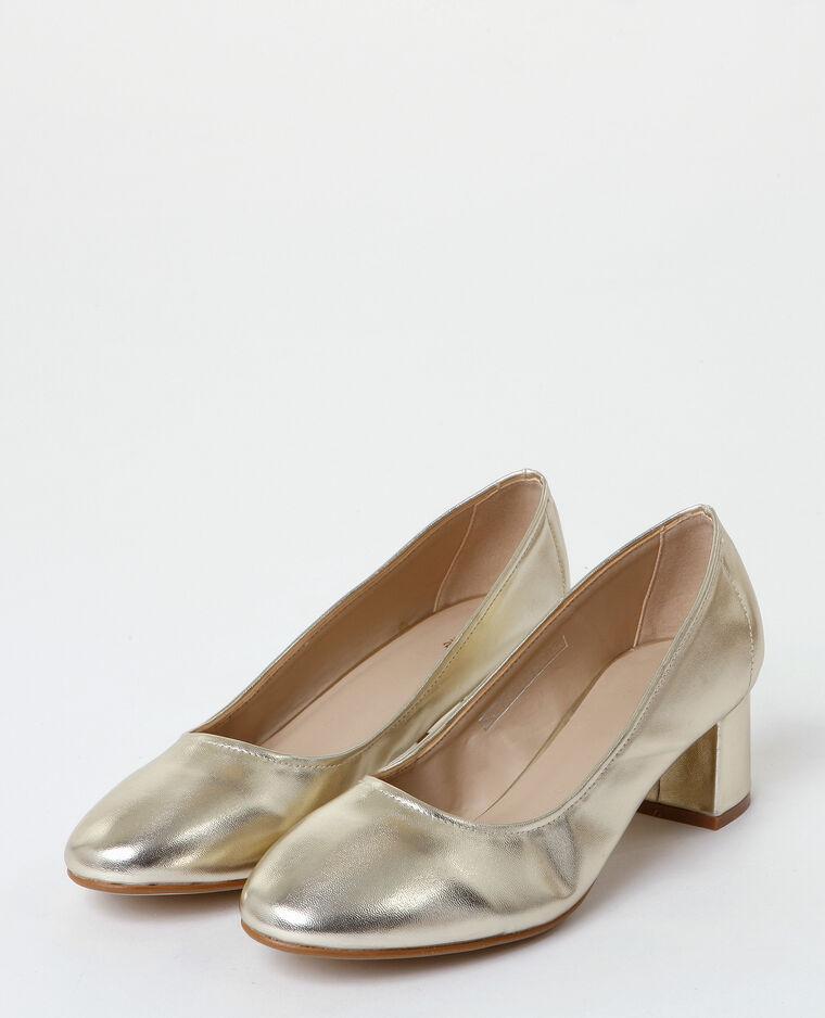 Zapatos de tacón dorados dorado