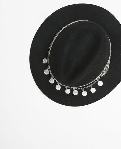 Sombrero fedora negro