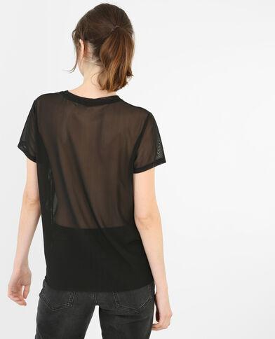 T-shirt graphique noir