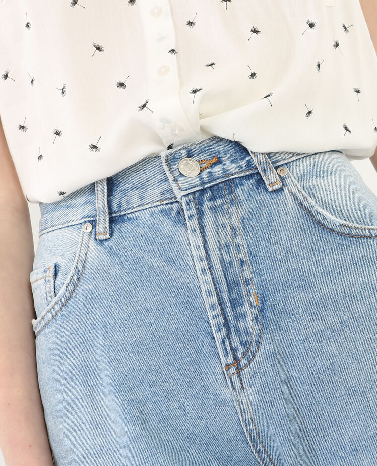 Mom-Jeans mit Destroyed-Effekt Blau