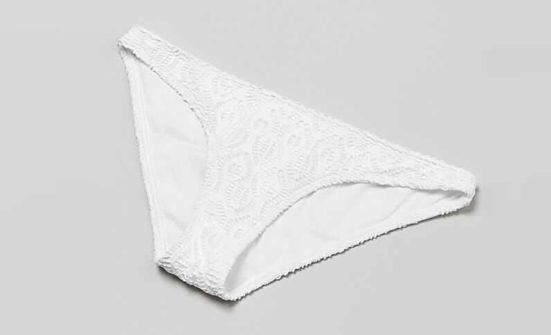 Bas de maillot de bain crochet écru