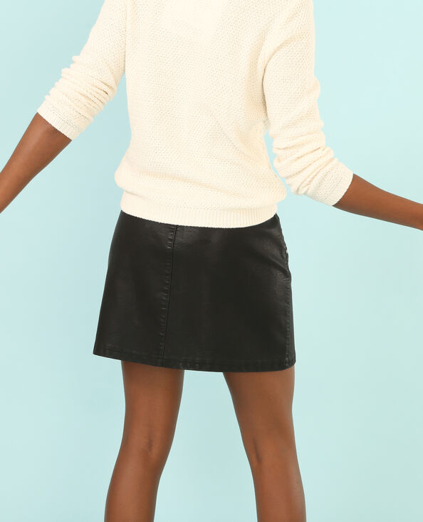 Falda roquera con cremallera negro