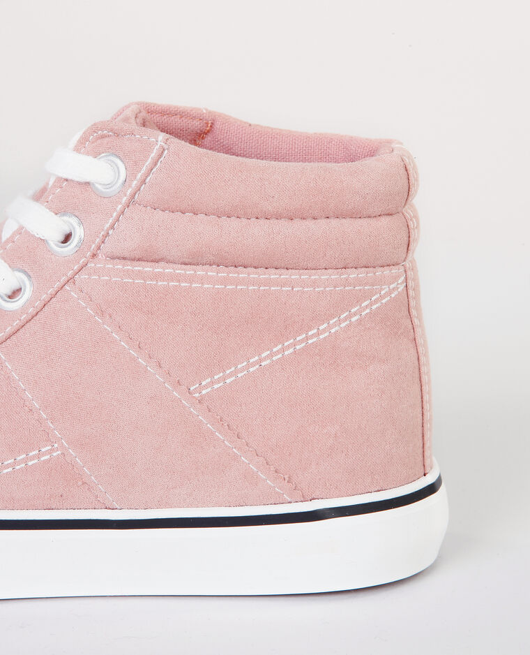 Zapatillas altas rosa maquillaje