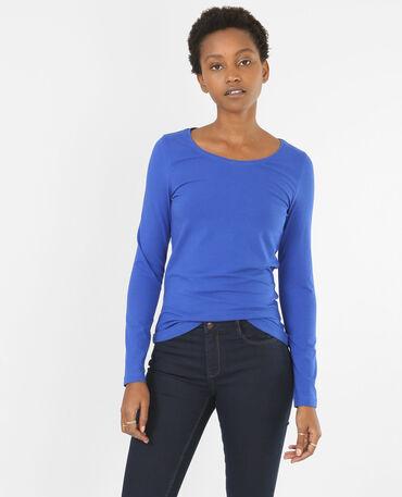 T-shirt basique bleu électrique