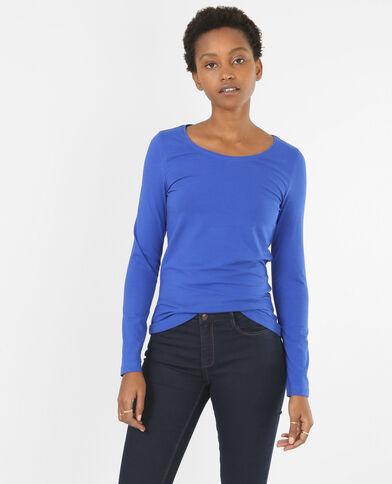 Camiseta básica azul eléctrico