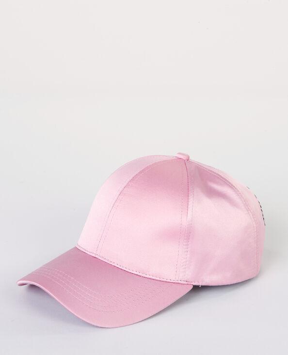 Gorra satinada rosa