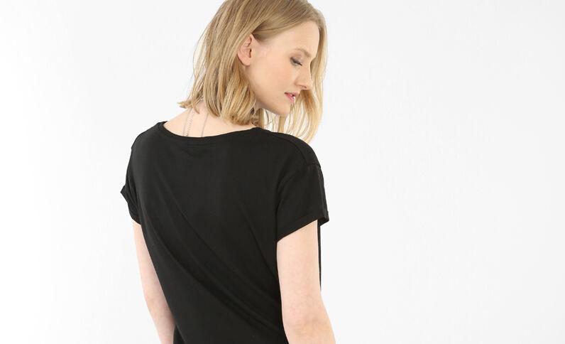 T-Shirt zum Binden mit Patches Schwarz
