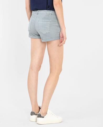Shorts mit Umschlag Hellblau