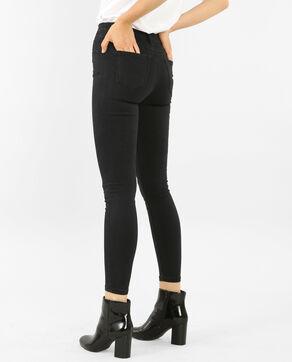 Jeans skinny de talle alto negro