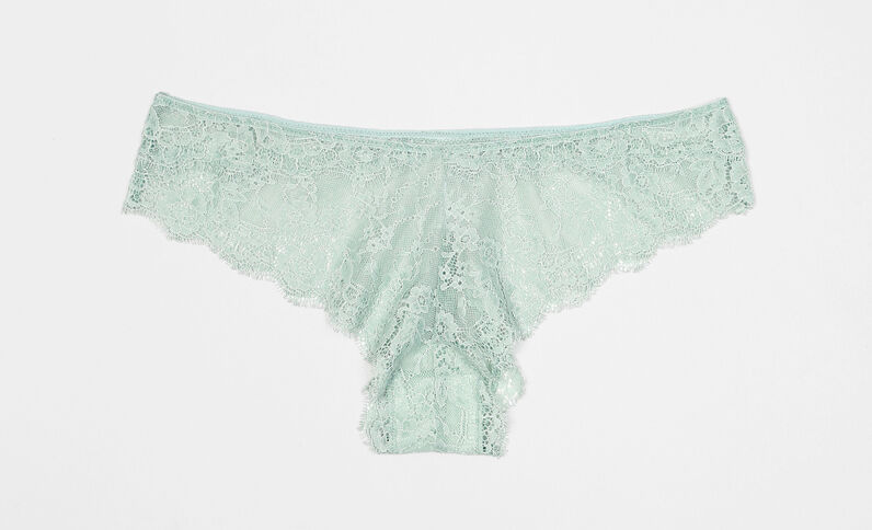 Braguita tipo shorts de encaje verde